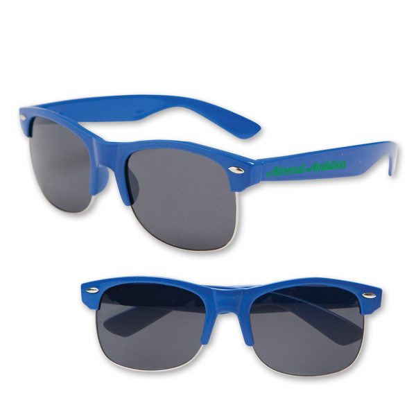 Customized Half Frame Blues Brothers Style Sunglasses