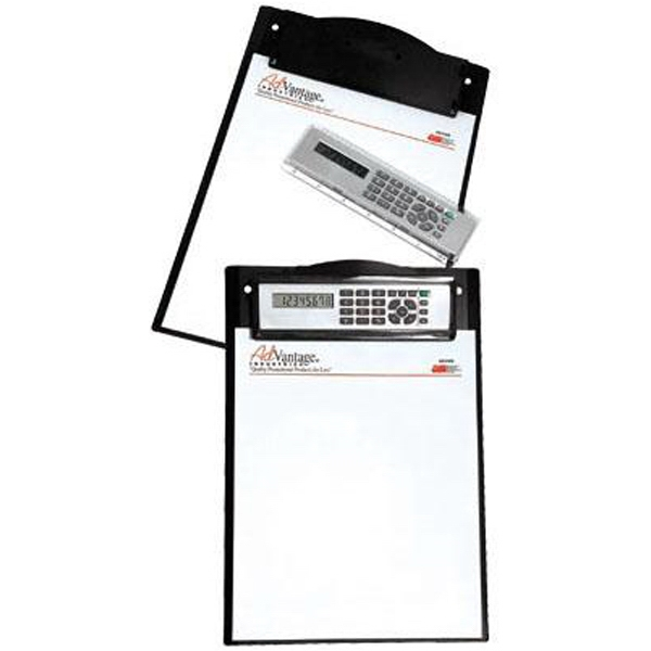Clipboard with removable calculator/ruler