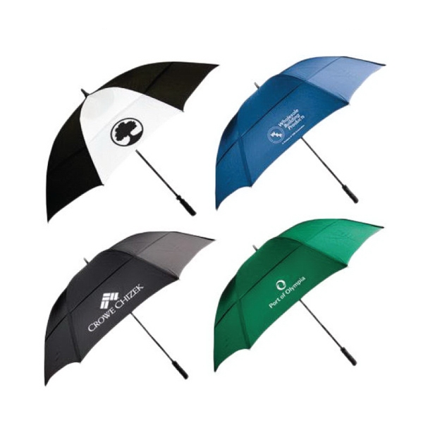 "62"" wind resistant golf umbrella with fiberglass shaft"
