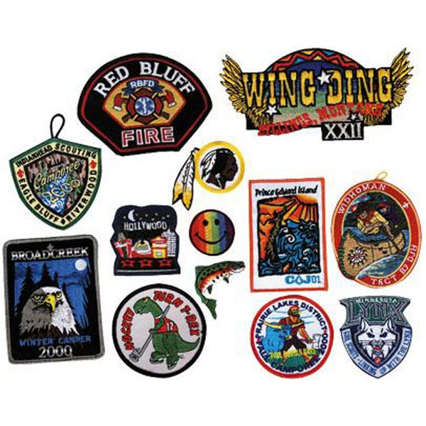 Embroidered patches and appliques