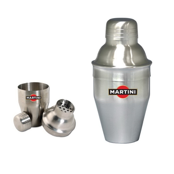 7 oz brushed stainless steel mini martini shaker