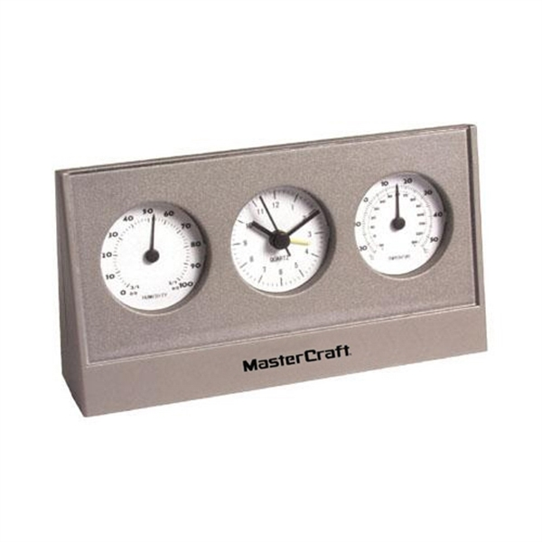 Desktop weather station with alarm clock