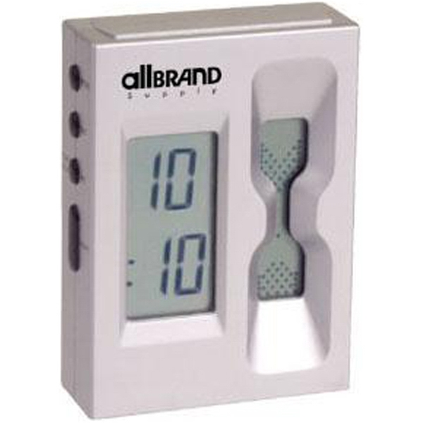 Digital sand countdown timer and alarm clock