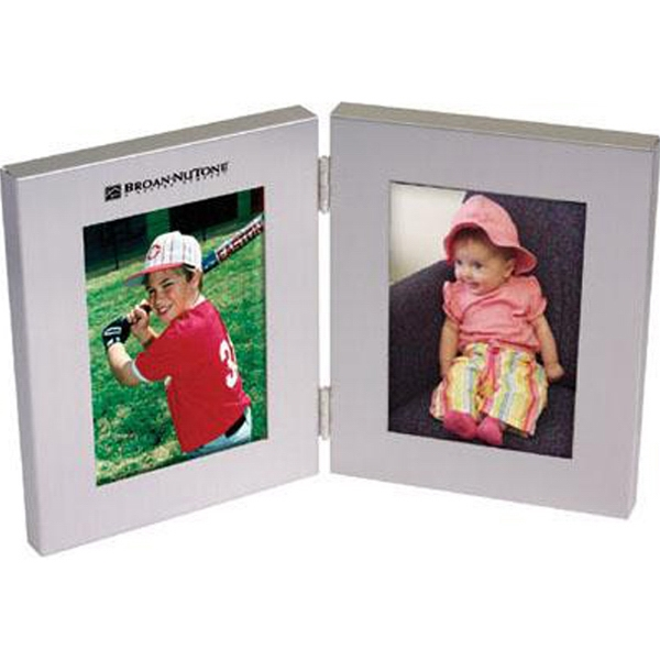Aluminum bi-fold photo frame