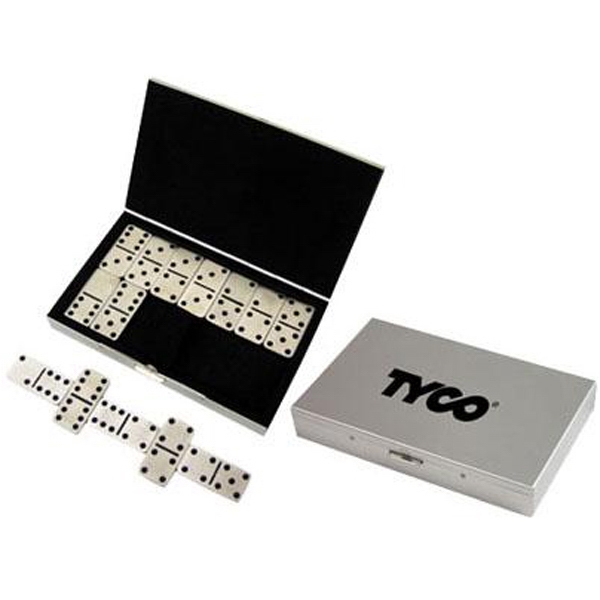Stainless steel travel domino set