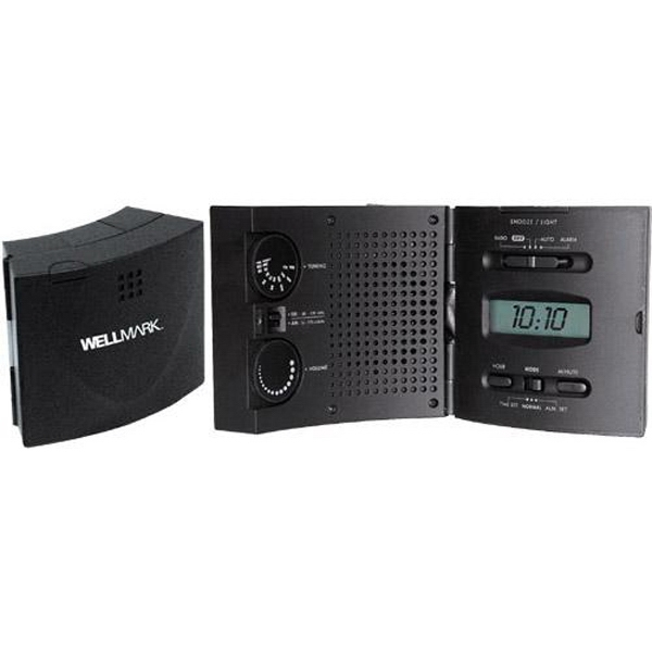 "AM/FM ""Wave"" radio and lighted alarm clock"