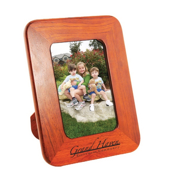 "4"" x 6"" Solid Wood Photo Frame With Easel Back"