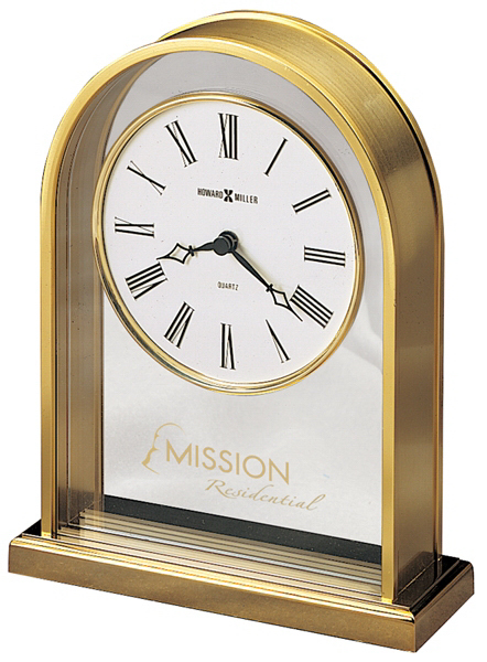 Reminisce Brass-Tone Clock