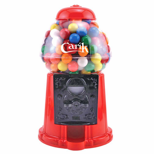 Plastic Gumball Machine with Chocolate Drops