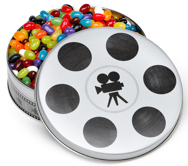 Small Movie Reel Tin Box with Jelly Beans