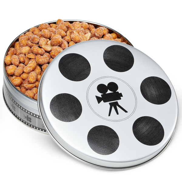 Small Movie Reel Tin Box with Nuts