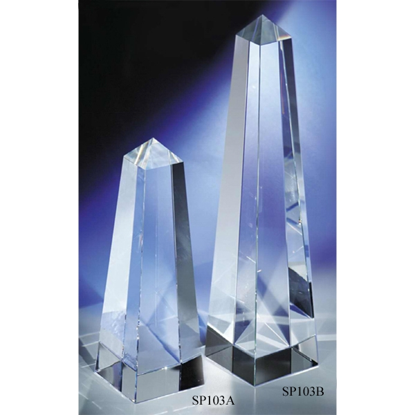 """Personalized An """"Obelisk"""" Crystal Award by CRYSTAL WORLD"""