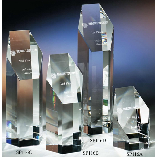"The ""Prestige"" Crystal Award by Crystal World"