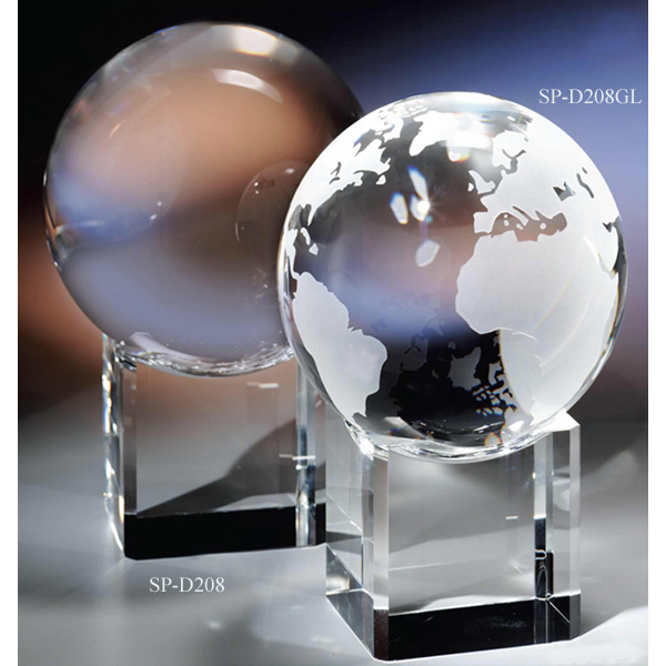 "The ""Crystal Ball & Base"" Award by Crystal World"
