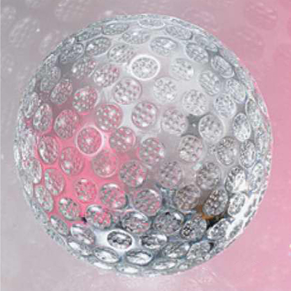 "The ""Golf Ball"" Crystal Golf Shaped Sports Award"