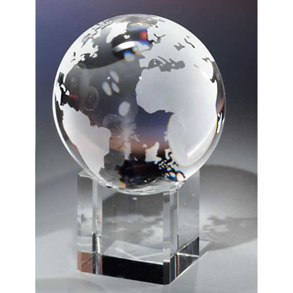 Personalized Crystal Globe & Base