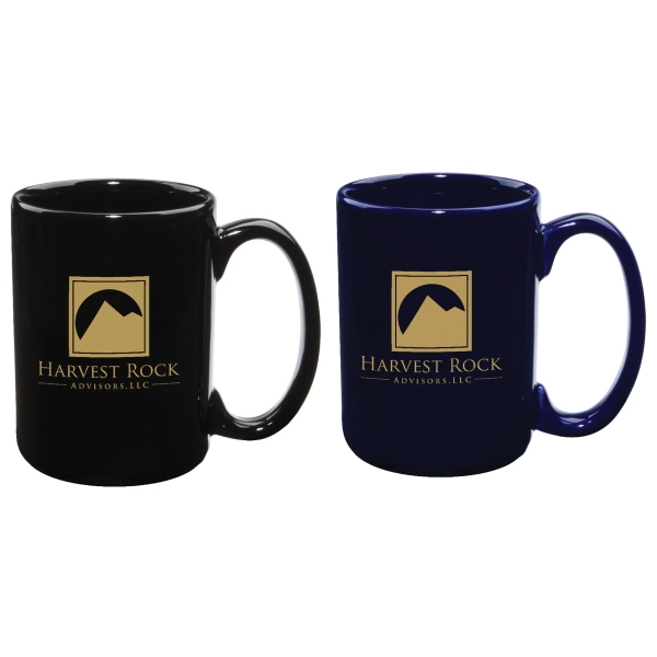 15 oz El Grande Ceramic Coffee Mug, Color