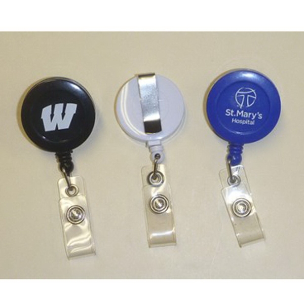 Badge Reel, retractable, belt clip