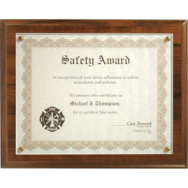Printed Cherry Certificate Plaque