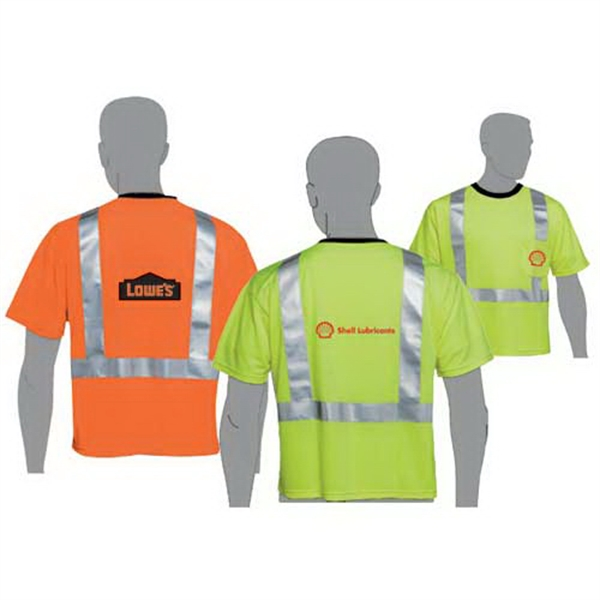 Class 2 compliant safety T-shirt
