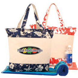 Jumbo Zipper Canvas Tote