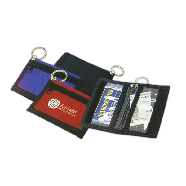 Bi-Fold Wallet with Key Ring