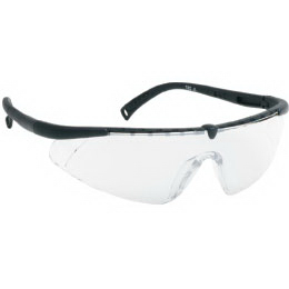 Single-piece lens safety glasses