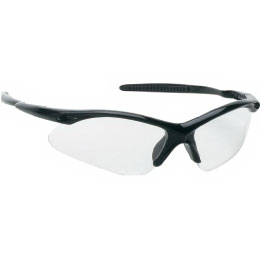 Stylish safety glasses with black frame
