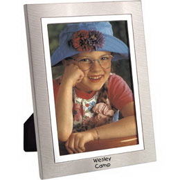 Imprinted Two-Tone Metal Picture Frame