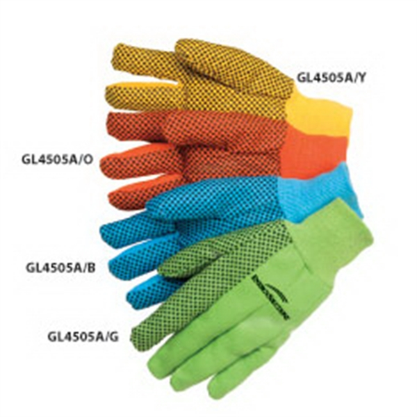 10 oz. Canvas Work Gloves with PVC Dots
