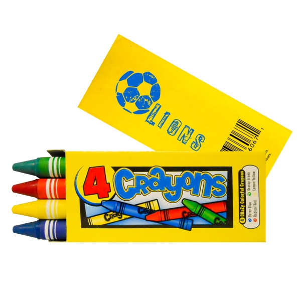 4 piece economy pack crayon set