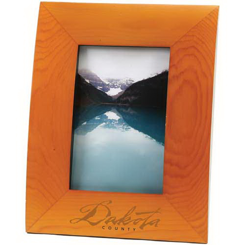 Curved solid wood picture frame