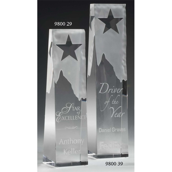 Star Obelisk Optical Crystal Award