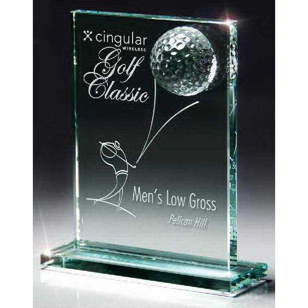 Jade Glass Golf Ball Award