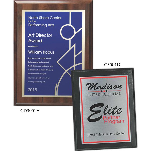 Plaque Award - Choice of Screened Plate and Board