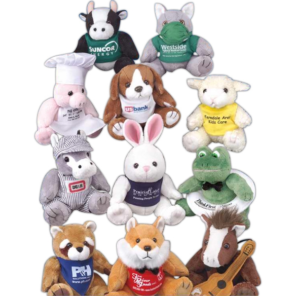 "GB Plush Beanies (TM) 6"" stuffed animal"