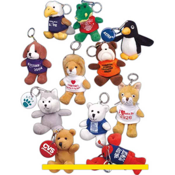 "Key Chain Pals (TM) 4"" stuffed animal keychain"