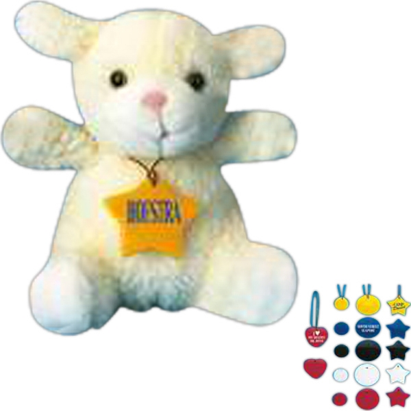 Logo tag for stuffed animal