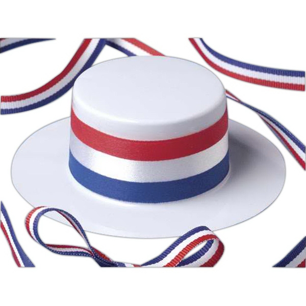 Patriotic skimmer hat for stuffed animal
