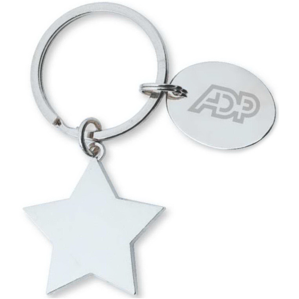 Imprinted Star Key tag
