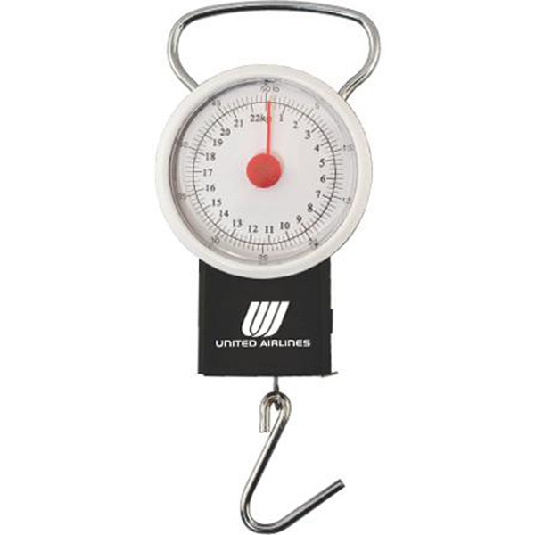 "50 lb luggage scale with39"" tape measure"