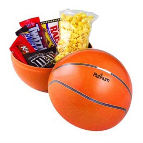 Large Themed Tin/1 Bag of Butter Popcorn/5 Assorted Candies