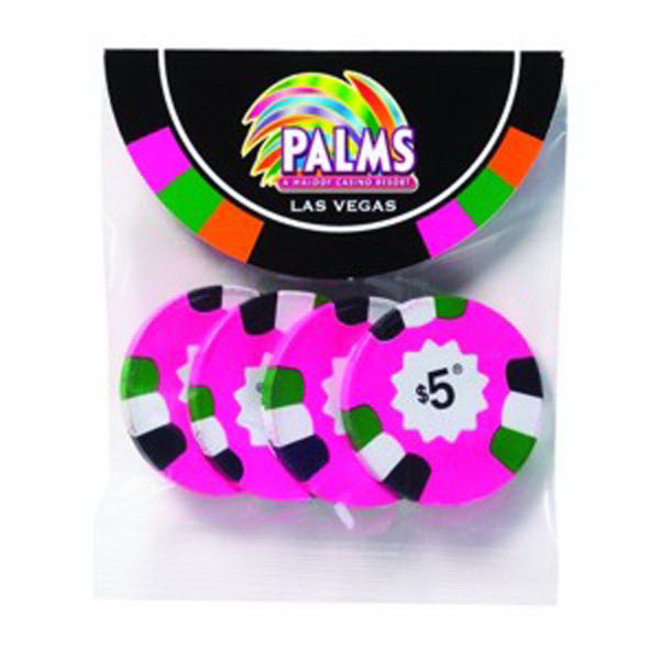 Poker Chips (Milk/Dark Mint Chocolate) Header Bag Round Top