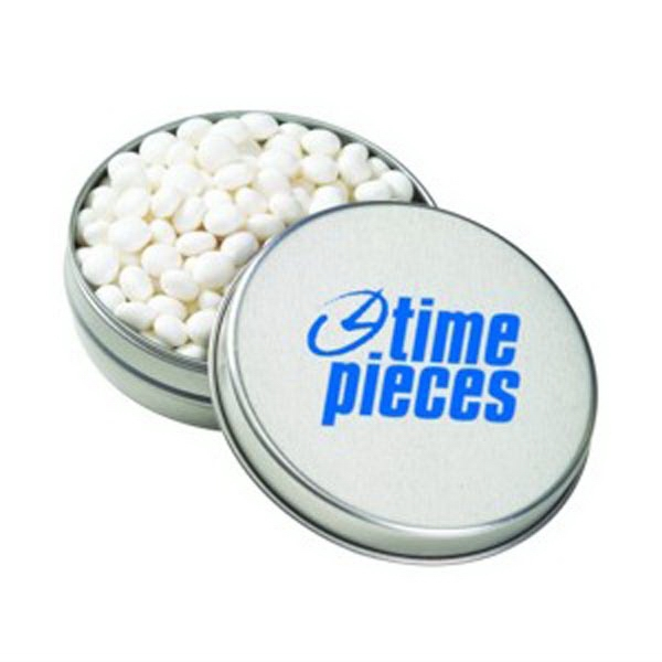 Medium Round Tin / White Mints