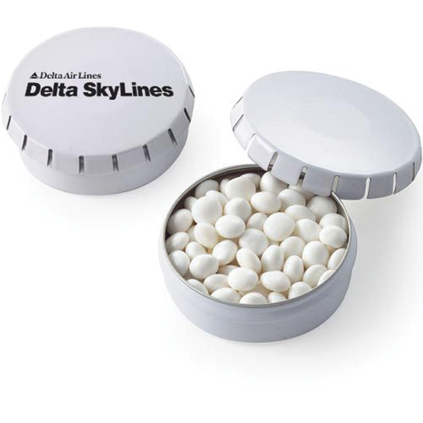 Push top Tin with White Mints