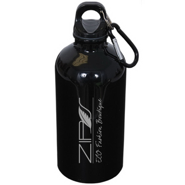 500 mL. (17 oz) Stainless Steel Water Bottle with Carabiner