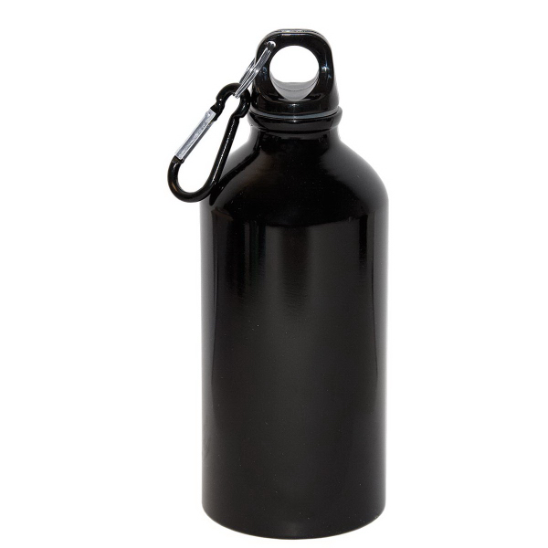500 mL. (17 oz.) Aluminum Water Bottle With Carabineer