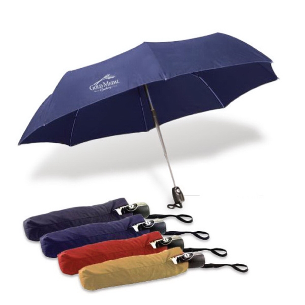 "43"" Auto-open and close mini umbrella with case"