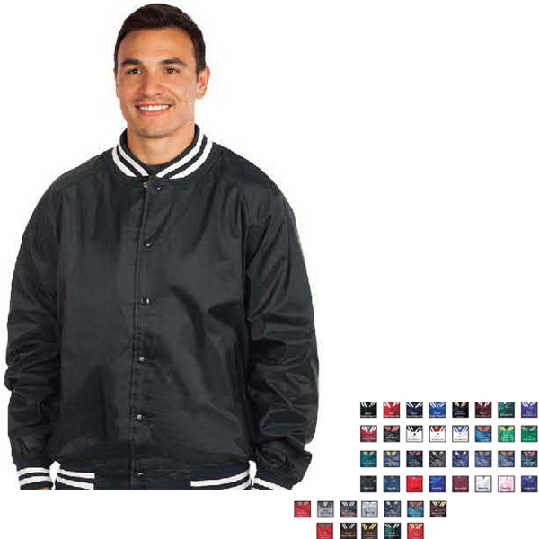 Westark USA Youth Satin Solid Quilt Lined Baseball Jacket