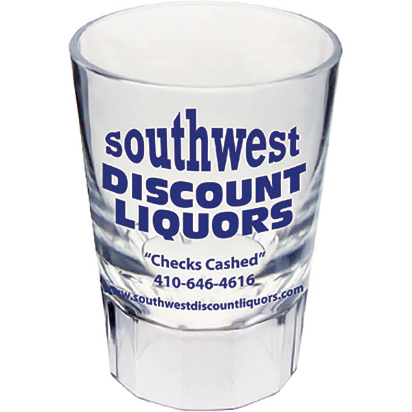 2oz Fluted Shot Glass